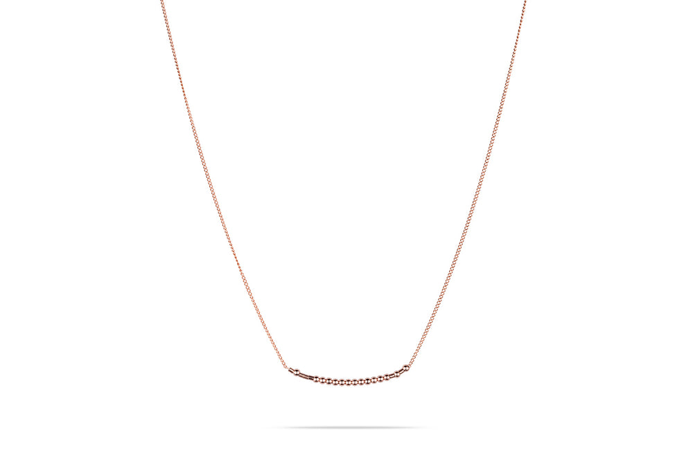 Namenskette • Morse.Code.Chain.Necklace.• Gold