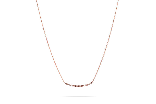 Namenskette • Morse.Code.Chain.Necklace.• Roségold