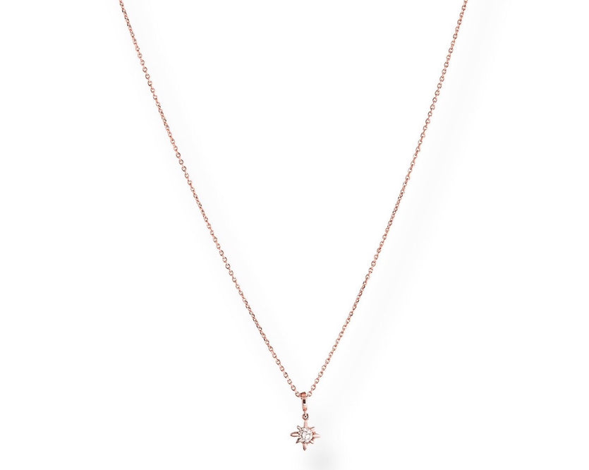 NEW The Diamond Marquise Chain - Kette mit  Anhänger aus Diamanten -  Roségold