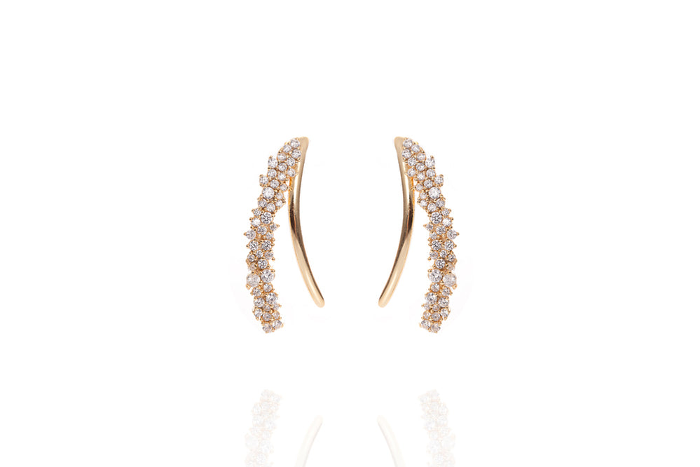 ANAH - ILLUSION WING EARRINGS -2in1 - Gold - LIMITIERT