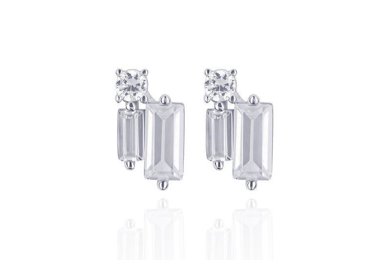 LORA NEW PIN STUD Earrings - Silber