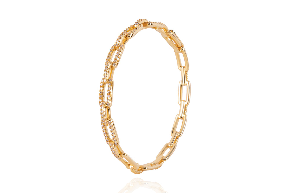 DAYA 2in1 BANGLE - Cooler Glieder-Armreif - GOLD