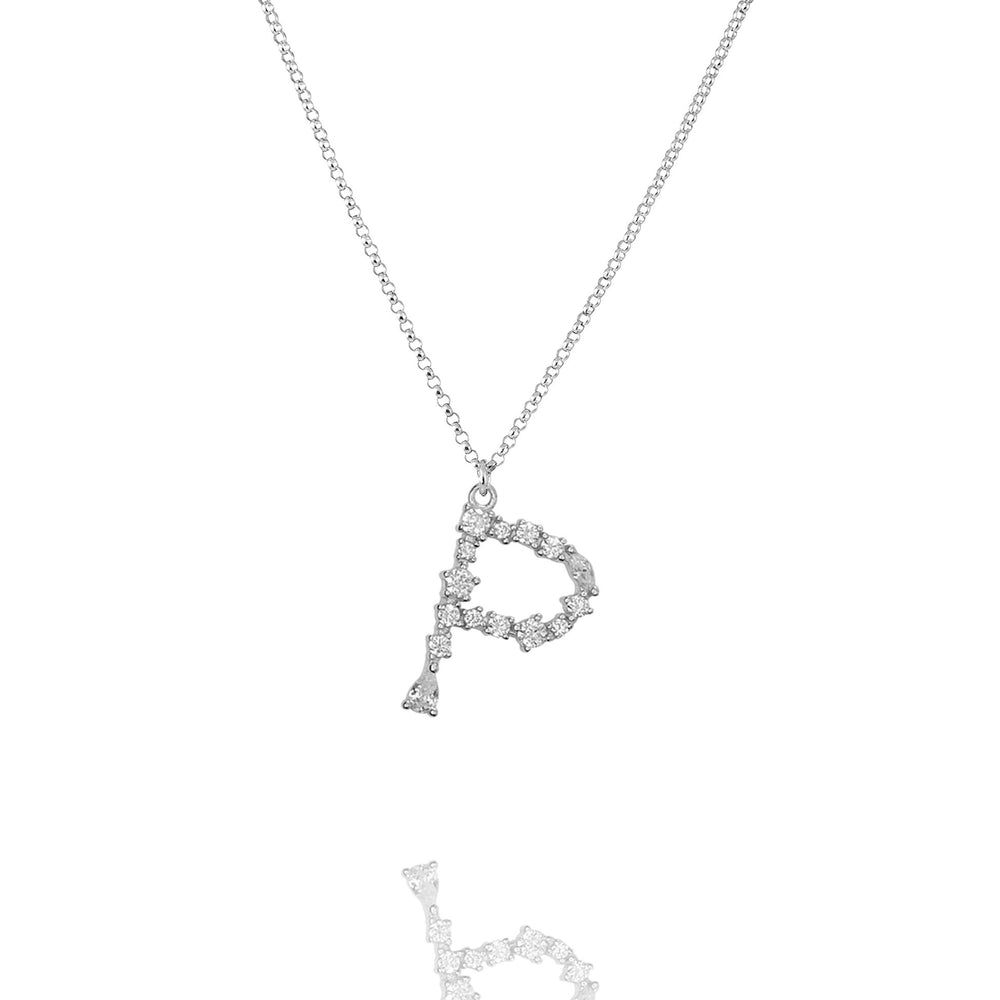 P - Buchstaben Kette - Letter Chain - Silber - SOLD OUT - CLASSYANDFABULOUS JEWELRY