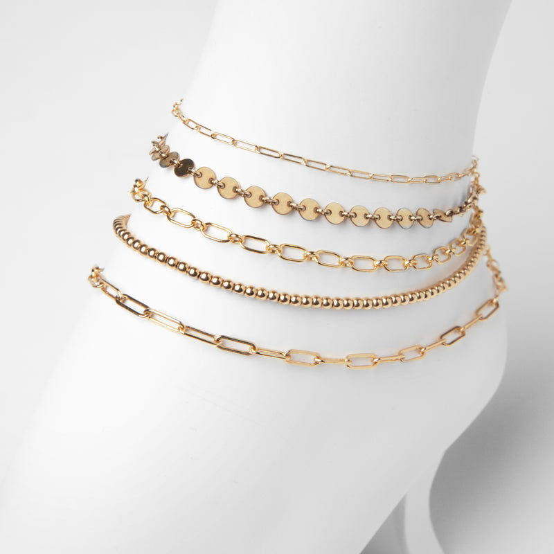 Valda Mini Anklet - Zartes Fusskettchen - Gold - CLASSYANDFABULOUS JEWELRY