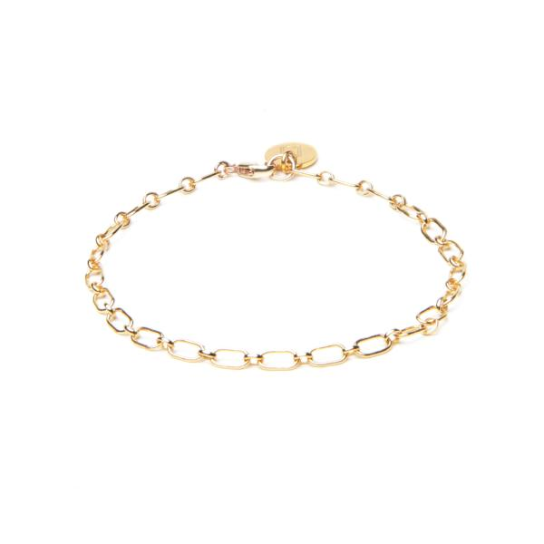 ELVA Oval Link Bracelet - Edles Armband mit Anhänger - personalisierbar -  Gold - CLASSYANDFABULOUS JEWELRY