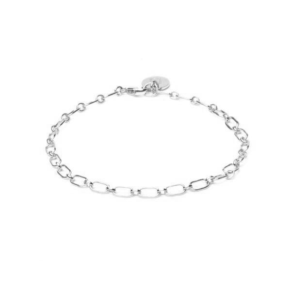 ELVA - Oval Link Bracelet - Edles Armband mit Anhänger - personalisierbar -  Silber - CLASSYANDFABULOUS JEWELRY