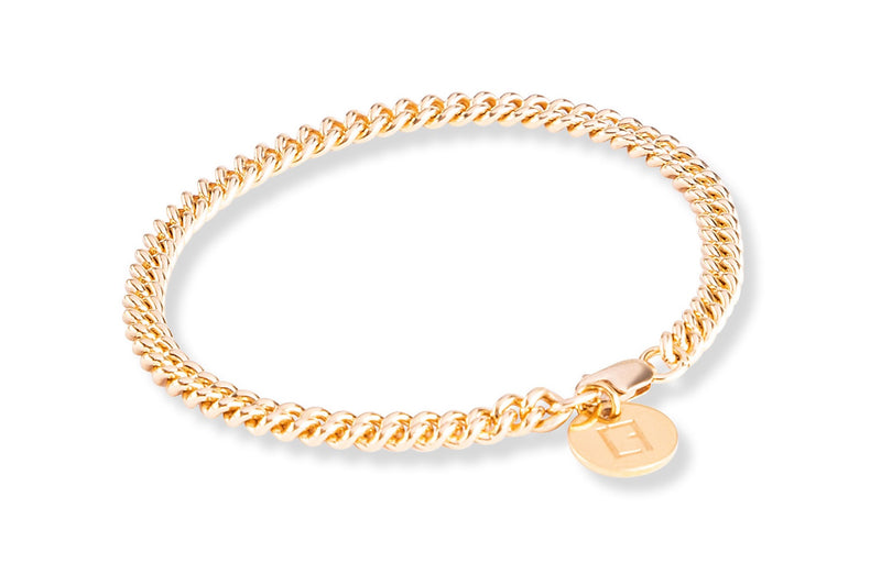 THE CURB CHAIN Anklet - Cooles Fusskettchen - Gold