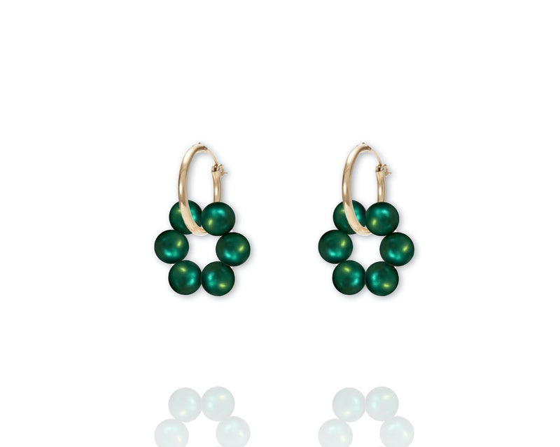 ABSOLUT AZALEA Earring - Gold / Eden Green