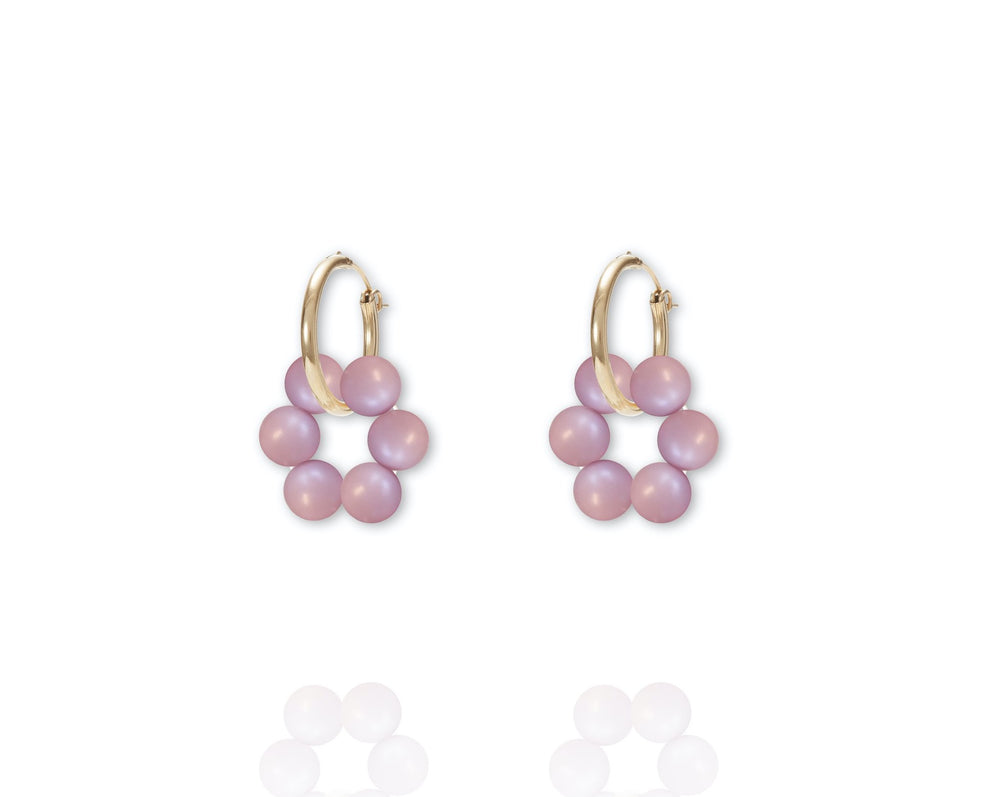 ABSOLUT AZALEA Earring - Gold / Pastell Rosé