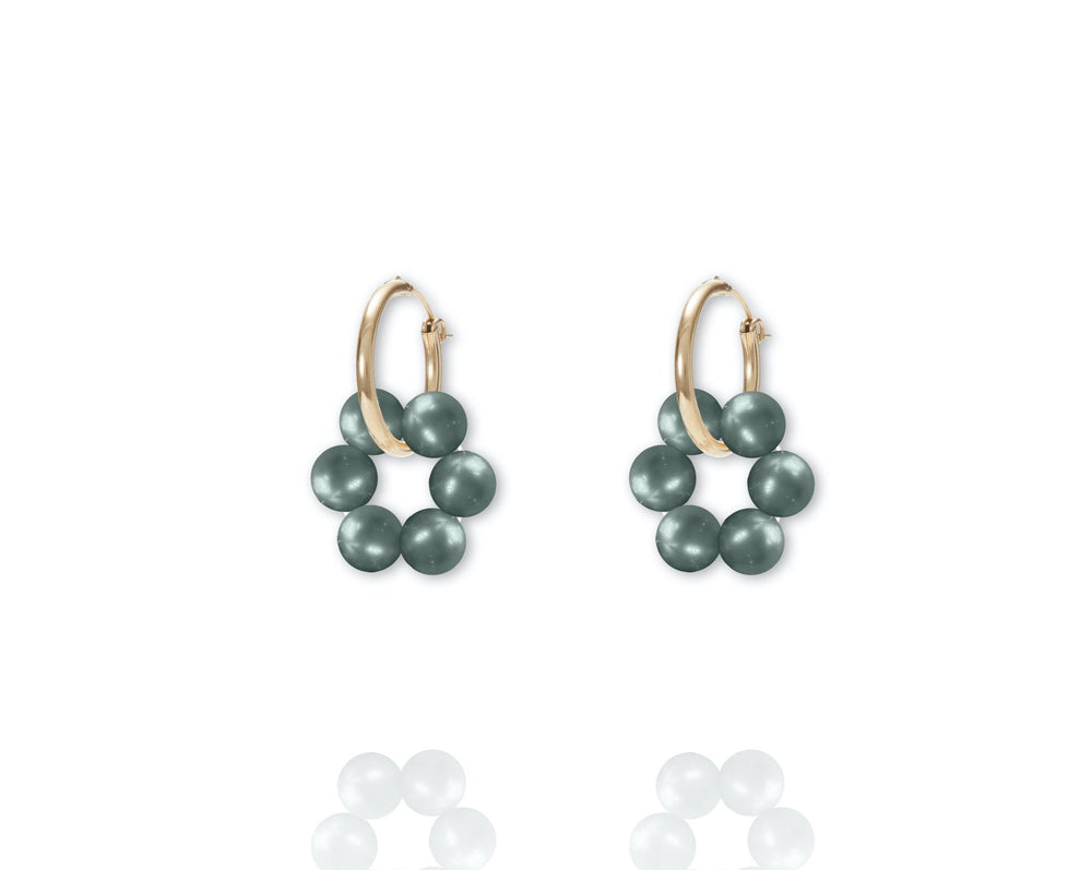 ABSOLUT AZALEA Earring - Gold / Powder Green