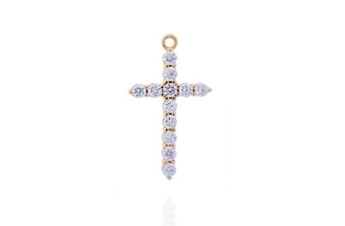 THE PAVÈ CROSS - CLASSYANDFABULOUS JEWELRY