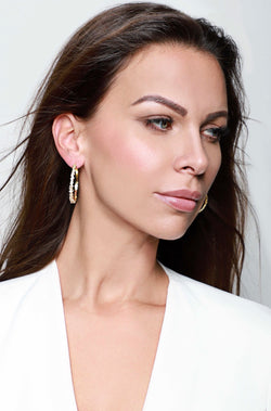 LORA MEDIUM HOOPS - Silber - LIMITIERT - CLASSYANDFABULOUS JEWELRY