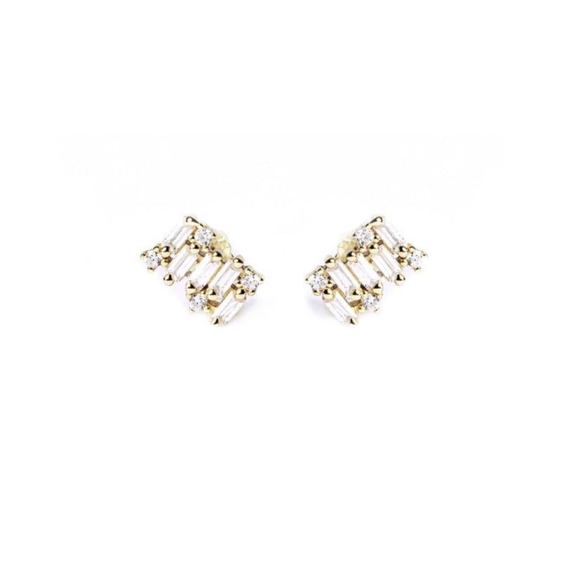 LORA STUD Earrings - Gold - CLASSYANDFABULOUS JEWELRY