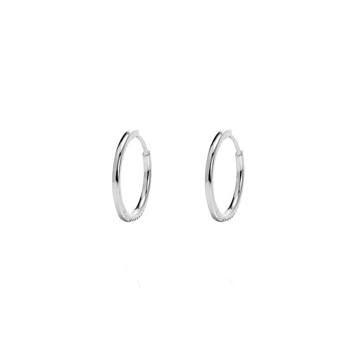 ALEA 2in1 - DIAMOND INSIDE OUTSIDE HOOPS AND PLAIN HOOPS -Mini-  Silber rhodiniert - CLASSYANDFABULOUS JEWELRY