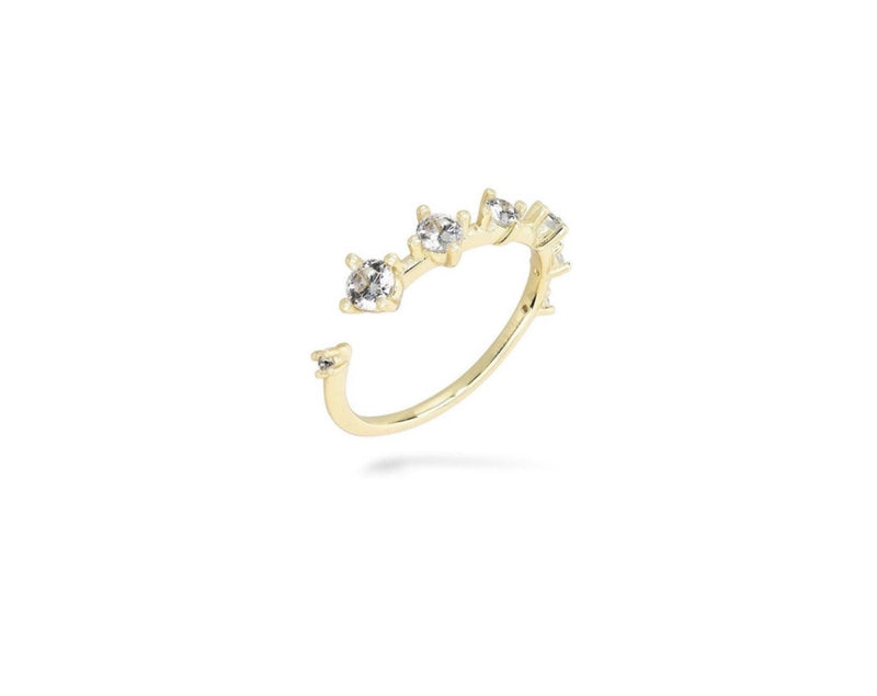 GIZA Diamond Row Ring - Gold