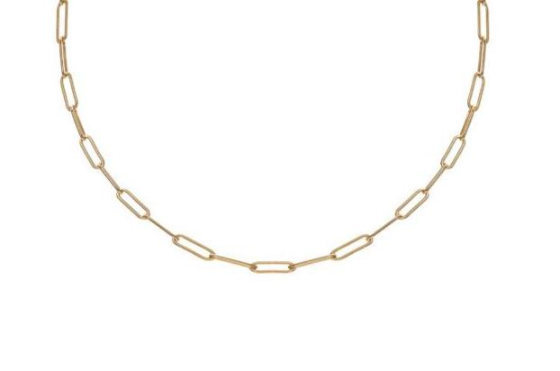 VALDA Large Long Link Choker - Grobe Gliederkette -  Gold - CLASSYANDFABULOUS JEWELRY