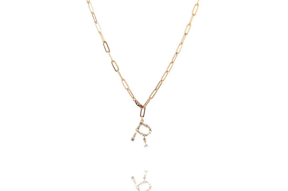 Coole Buchstaben Kette - The Big 2in1 Letter Chain - Gold - CLASSYANDFABULOUS JEWELRY