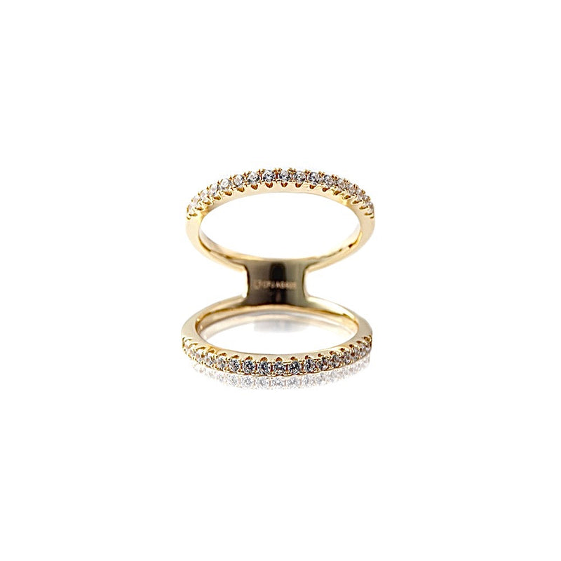 CARIS Double Ring - Gold - LIMITIERT - CLASSYANDFABULOUS JEWELRY
