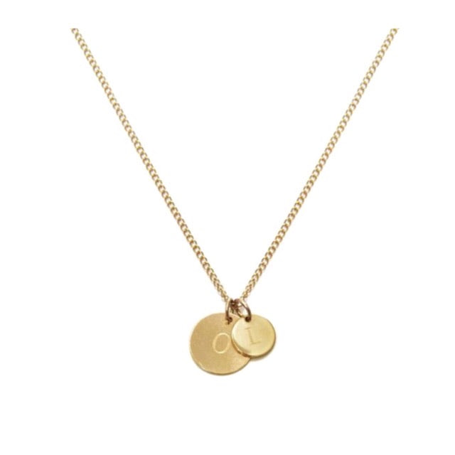 CARA II   - THE LOVE TAG OR SWEET INIENGRAVABLE 2 TA ENGRAVABLE 2 TAG CHAIN - Kette mit 2 gravierbaren Medaillon Anhängern -  Gold - CLASSYANDFABULOUS JEWELRY
