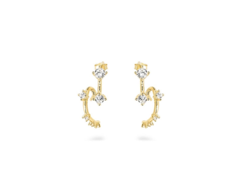 GIZA Long Twistet Earrings  - Gold