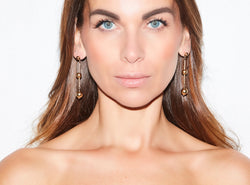 STYLE HÉROINE MAXI EARRING  - Moderner Kugelohrhänger -  Gold - CLASSYANDFABULOUS JEWELRY
