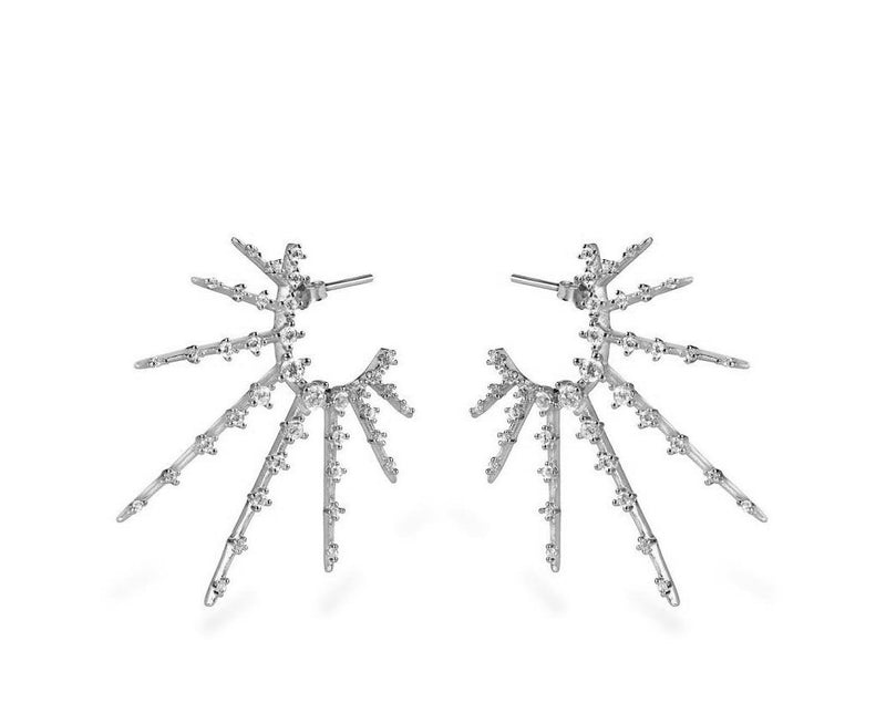 GIZA Starburst Earrings - Silber - CLASSYANDFABULOUS JEWELRY