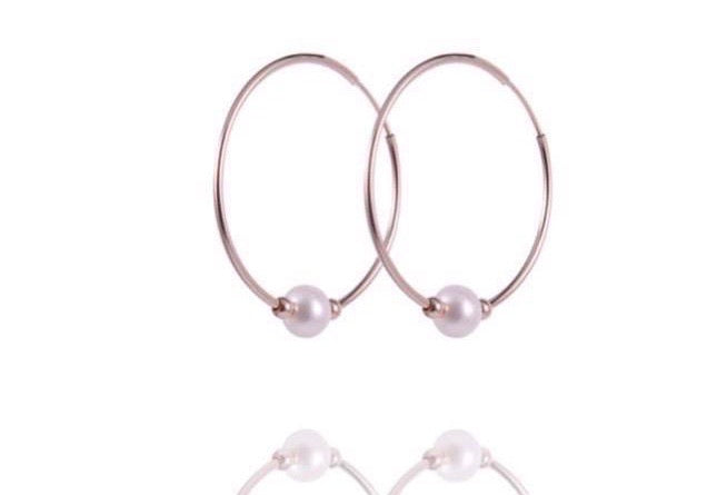 ALETTA Hoops - Creole mit Perle - Gold - CLASSYANDFABULOUS JEWELRY