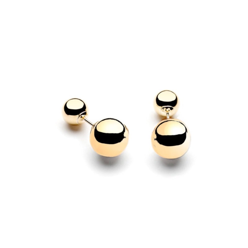 Double Pearl Earring -  Gold - CLASSYANDFABULOUS JEWELRY