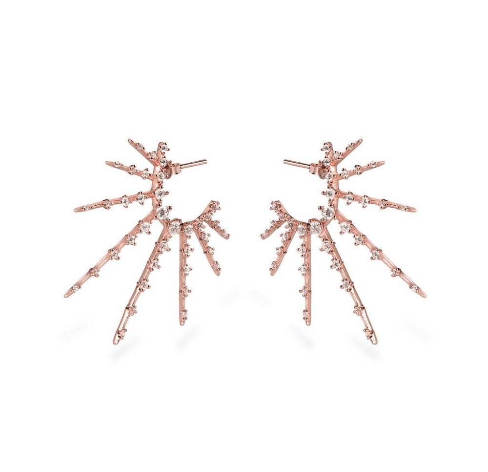 GIZA STARBURST EARRINGS - Roségold - CLASSYANDFABULOUS JEWELRY