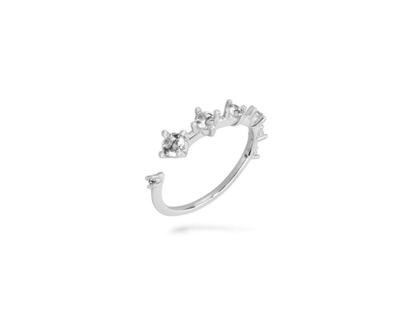 GIZA Diamond Row Ring - Silber