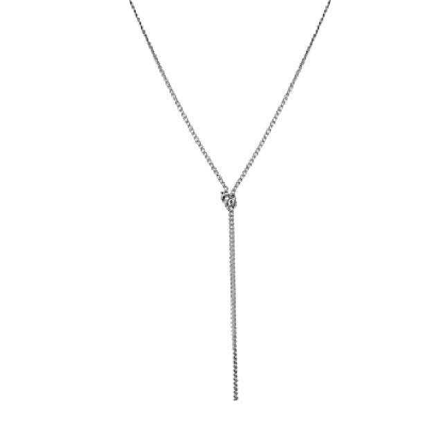 NORA - The Slim Knot Necklace - Silber - CLASSYANDFABULOUS JEWELRY