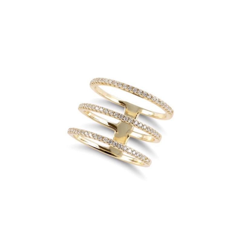 ALEA TRIPLE Ring - Gold - LIMITIERT - CLASSYANDFABULOUS JEWELRY