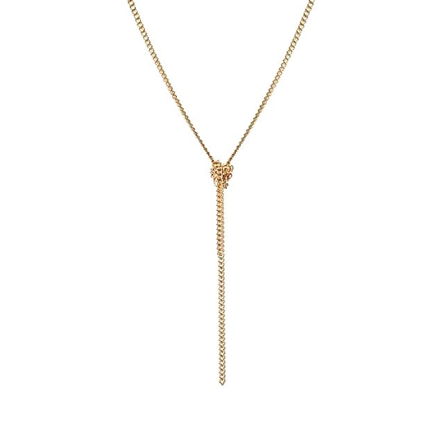 NORA - The Slim Knot Necklace - Gold - CLASSYANDFABULOUS JEWELRY