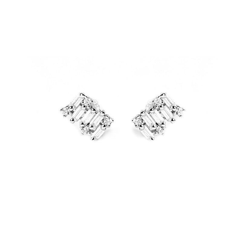 LORA STUD Earrings - Silber - CLASSYANDFABULOUS JEWELRY