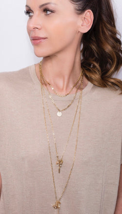 SHE IS ME - Statement Chain -  individuell einstellbar - Silber