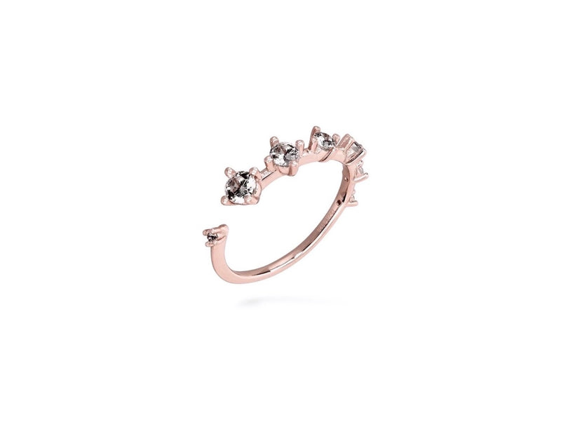 GIZA Diamond Row Ring - Roségold