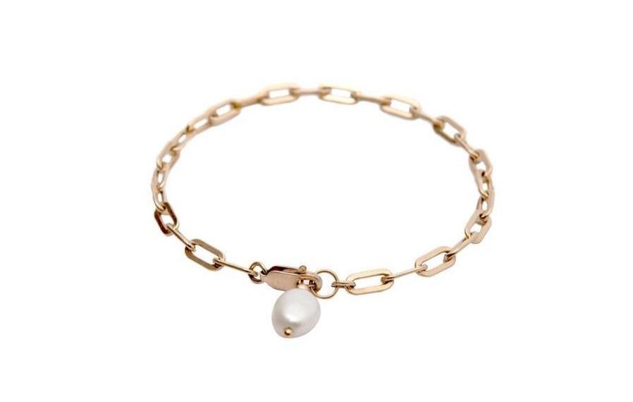 The Pearl Bracelet-  Modernes Armband mit Perle - Gold - CLASSYANDFABULOUS JEWELRY