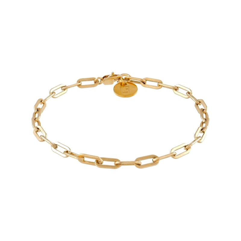 VALDA Medium Bracelet - cooles Gliederarmband -  Gold