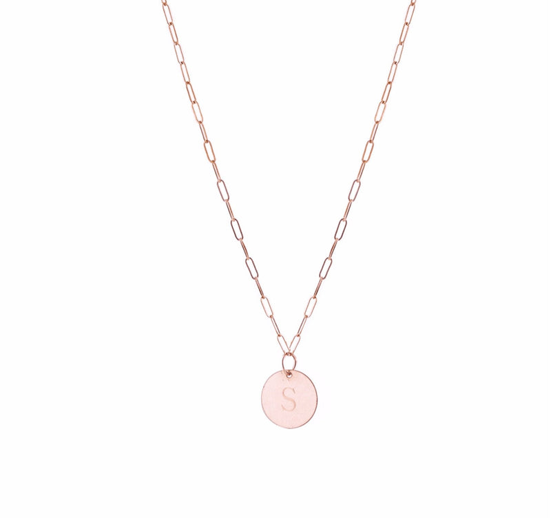 THE MINI LOVE TAG NECKLACE - Kette mit gravierbarem Medaillon Anhänger -  Roségold - CLASSYANDFABULOUS JEWELRY