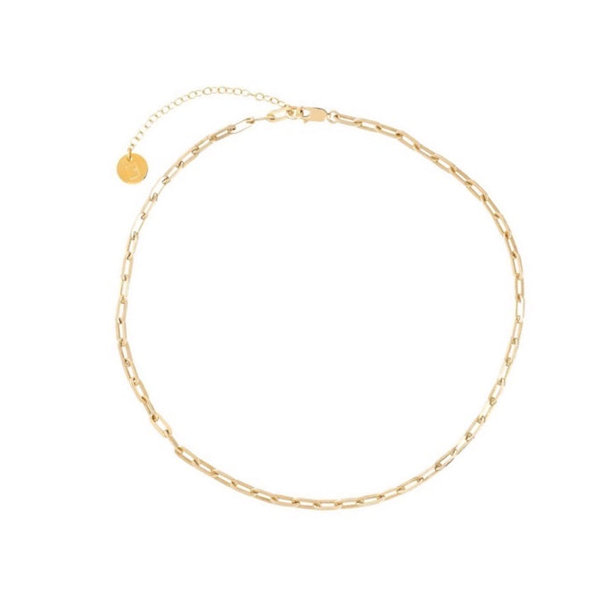 Valda Small Long Link Choker -  Gold - CLASSYANDFABULOUS JEWELRY