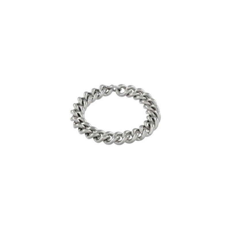 Curb Chain Ring  - Kettenring -  Silber - CLASSYANDFABULOUS JEWELRY