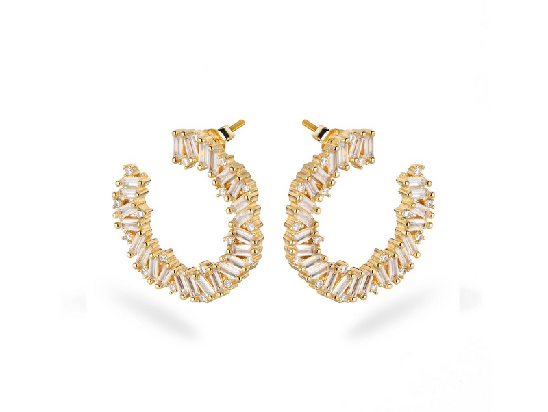 LORA MOON Earrings - Gold - LIMITIERT - CLASSYANDFABULOUS JEWELRY