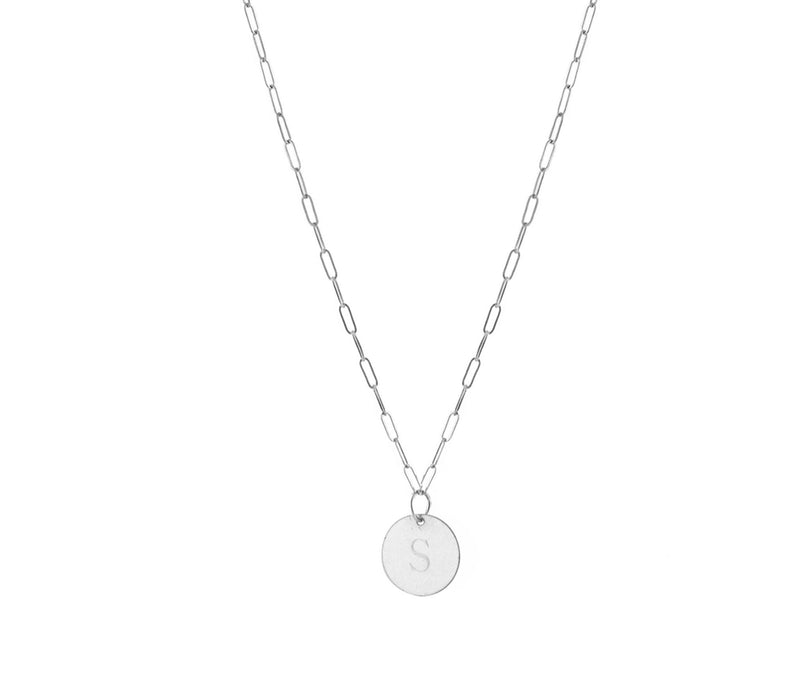 THE MINI LOVE TAG NECKLACE - Kette mit kleinem gravierbarem Medaillon Anhänger -  Silber - CLASSYANDFABULOUS JEWELRY