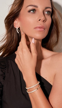 ANAH Luminated Open Bangle  - Silber - LIMITIERT