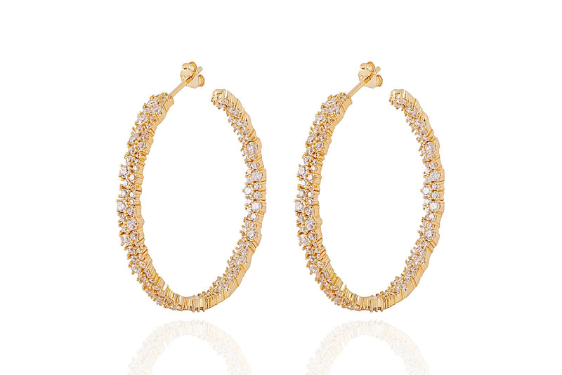 ANAH - DAZZL BIG HOOPS - Gold - LIMITIERT