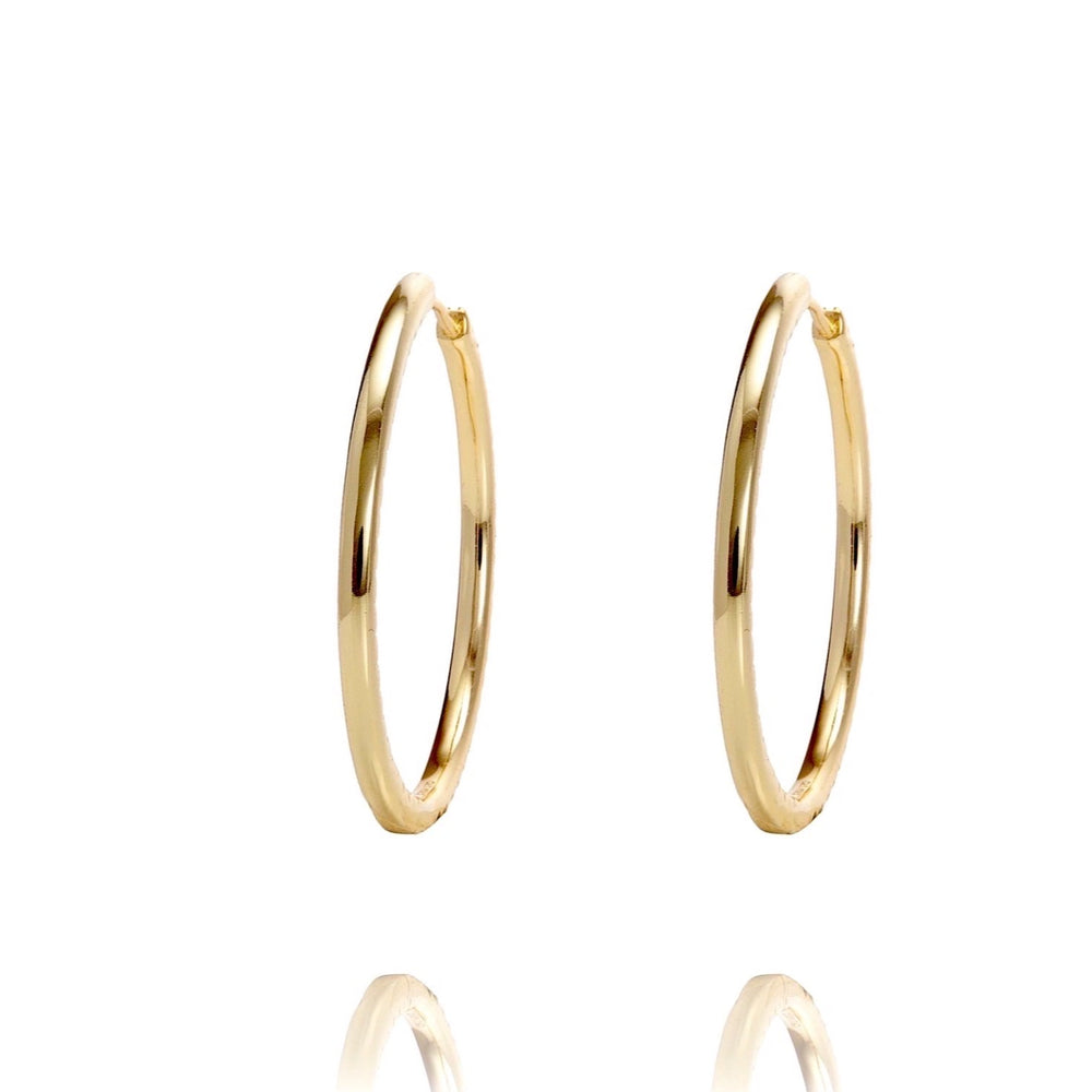 ALEA 2in1 - DIAMOND INSIDE OUTSIDE HOOPS AND PLAIN HOOPS - Maxi-  Gold - CLASSYANDFABULOUS JEWELRY