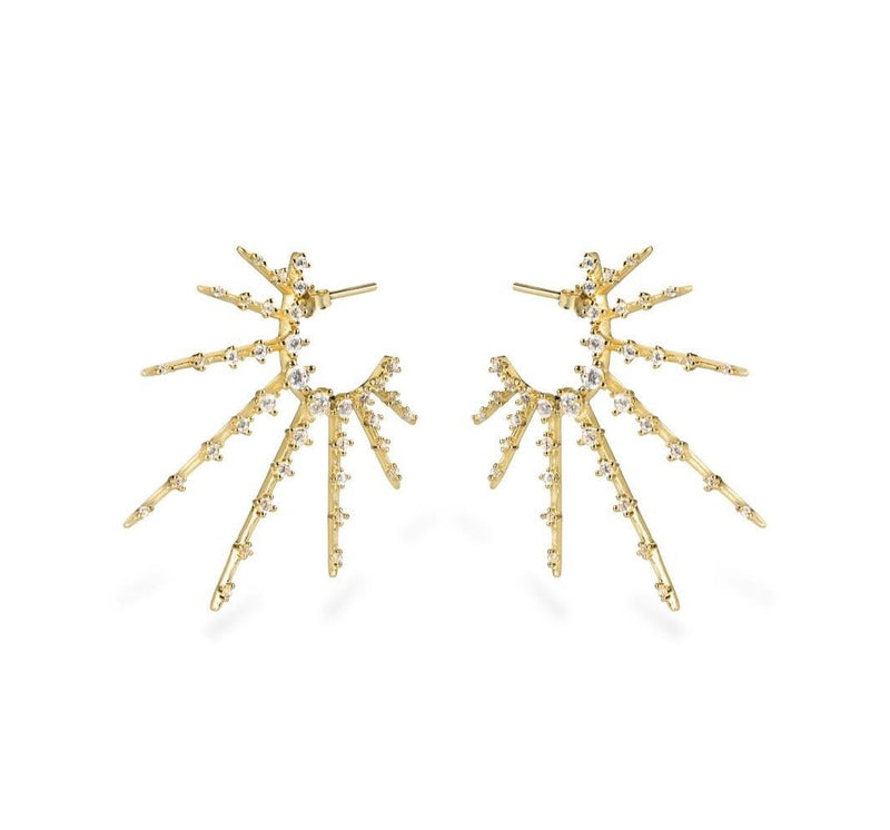 GIZA Starburst Earrings - Gold - CLASSYANDFABULOUS JEWELRY