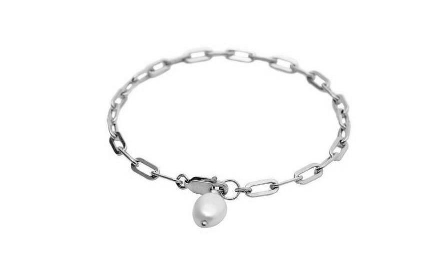 The Pearl Bracelet-  Modernes Armband mit Perle - Silber - CLASSYANDFABULOUS JEWELRY