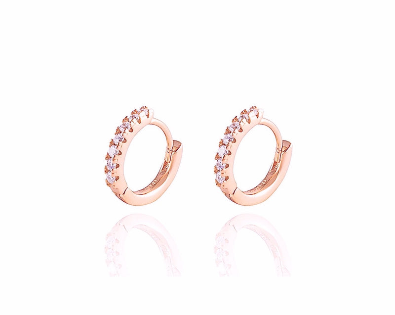 ALEA Baby Hoops - Mini Creolen - 8mm - Roségold