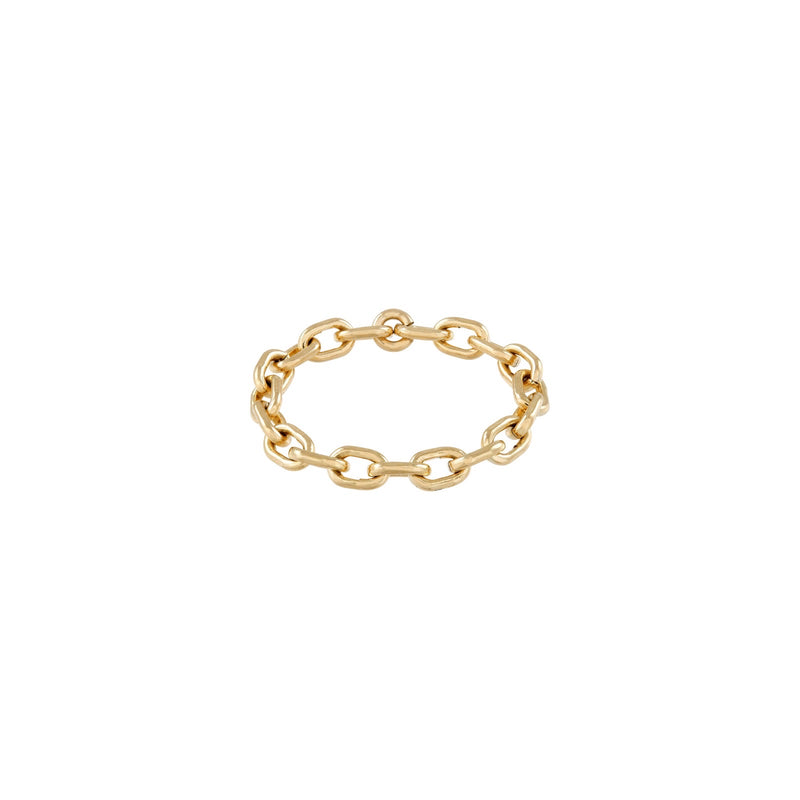 Micro Link Chain Ring  - Kettenring -  Gold